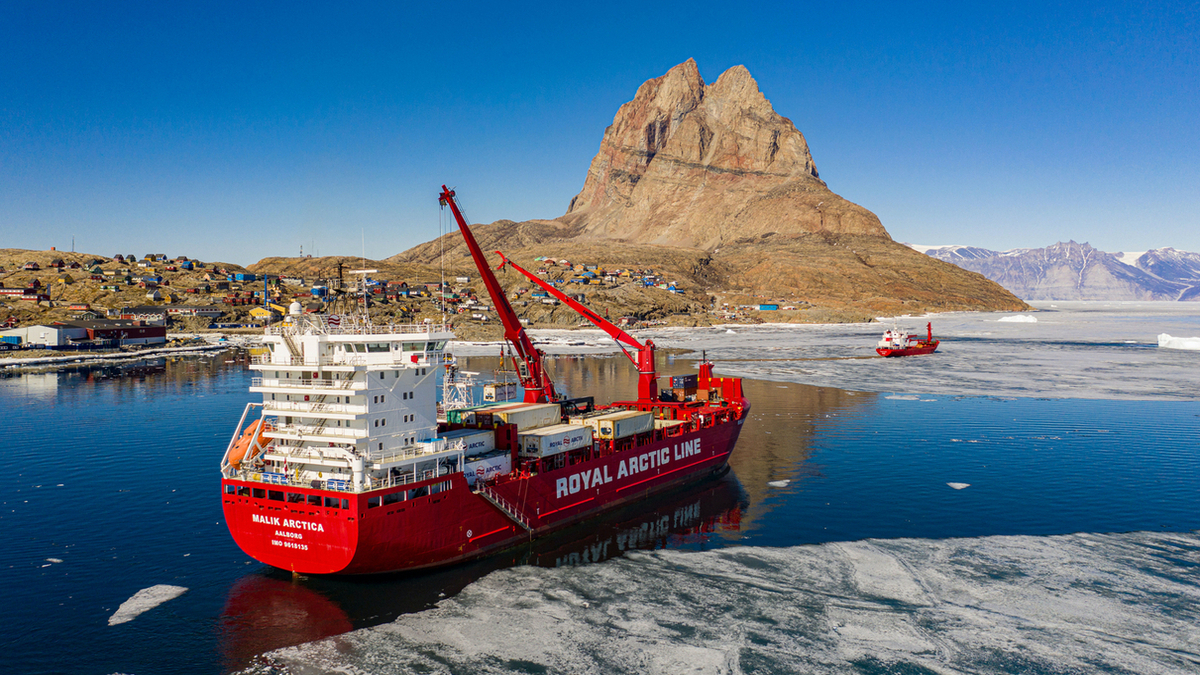 Malik Arctica (pictured) has reduced fuel consumption after the Frugal Propuslion system was installed (Image: Royal Arctic Line)