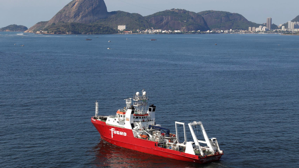 Fugro Brasilis is fitted with a permanently mobilised suite of high resolution geophysical and hydrographic survey equipment (source: Fugro)
