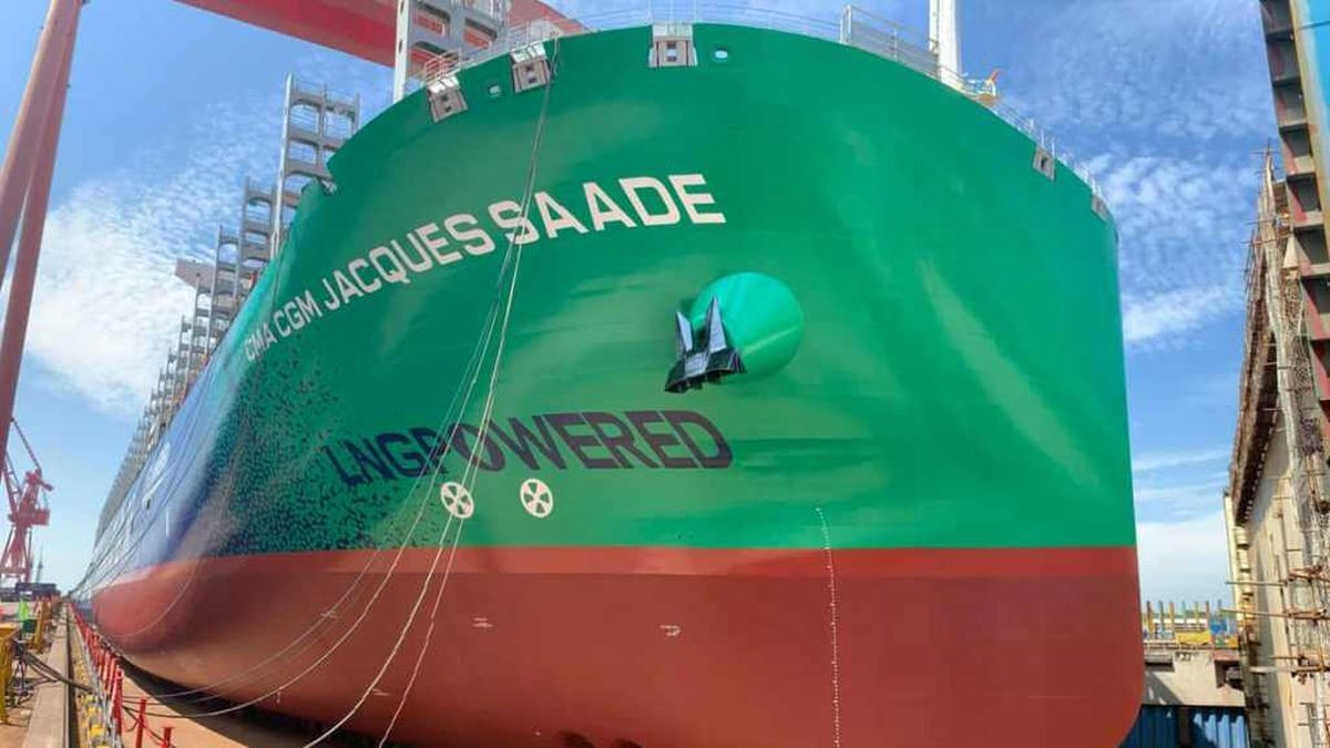 CMA CGM Jacques Saadé is equipped with dual-fuel X-DF propulsion (source: CMA CGM)