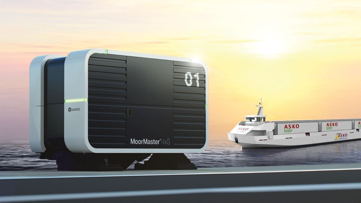 Cavotec's next-generation automated vacuum mooring solution (Image: Cavotec)