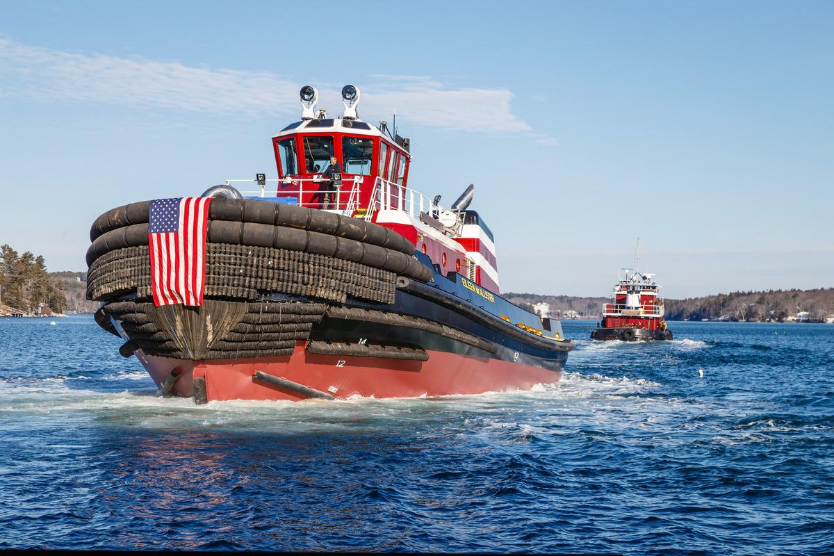 Eileen McAllister tug was built by Washburn & Doughty shipyard (source: McAllister)