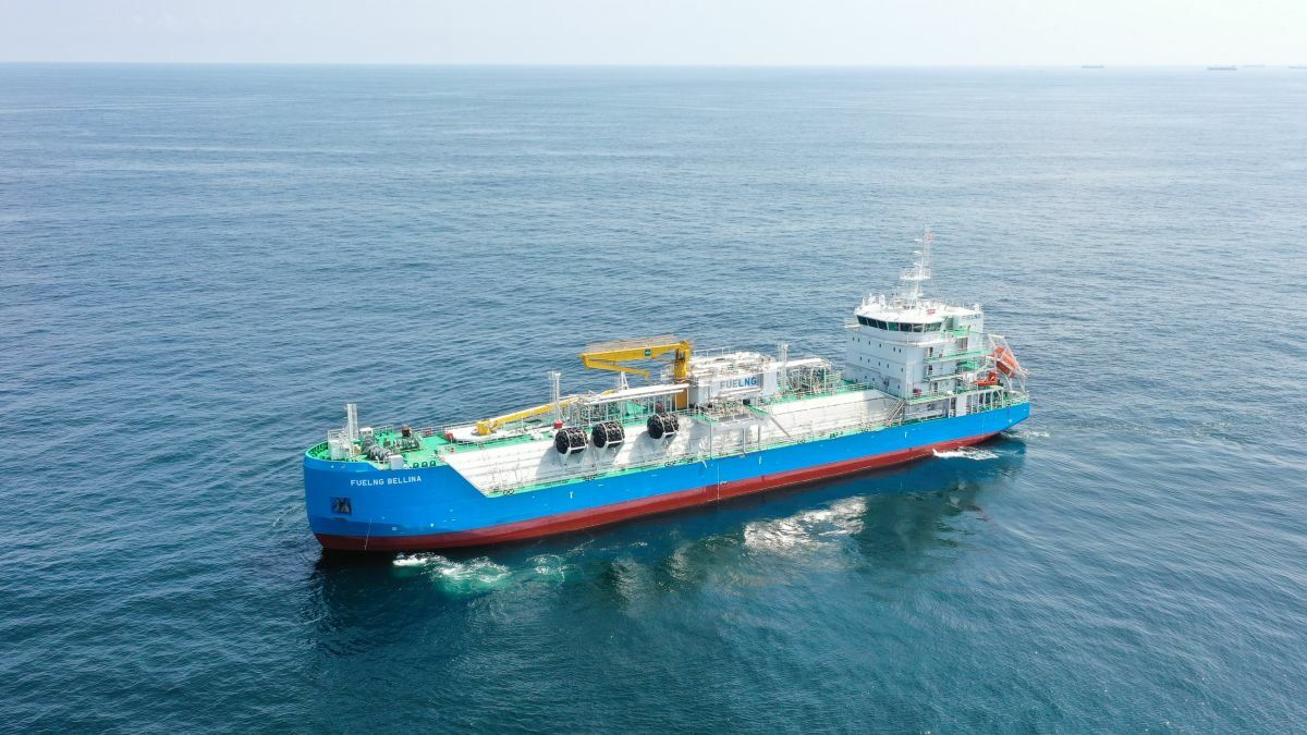 Singapore's FueLNG Bellina is the world's first 'smart' LNG bunker vessel (source: Keppel O&M)
