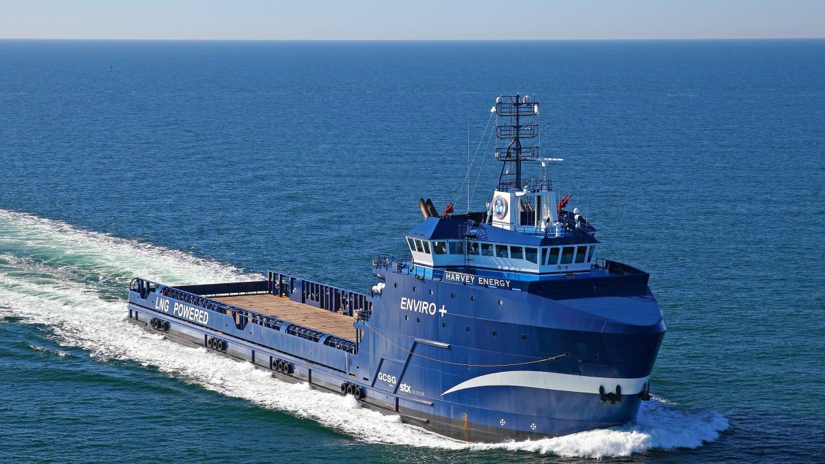 Harvey Energy PSV is the world's first tri-fuel OSV with LNG and electric power (source: Wärtsilä)