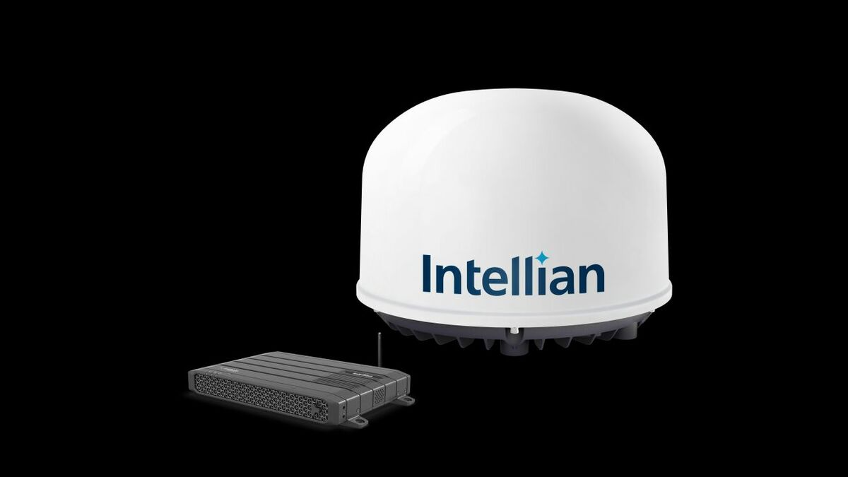 Intellian C700 terminal - antenna and BDU with wifi (source: Intellian)