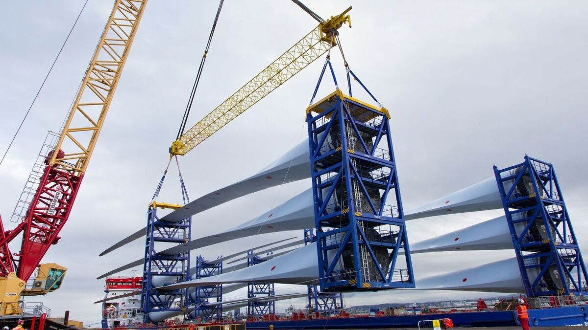 The blades now arriving on Teesside were manufactured by MHI Vestas at its Isle of Wight, UK facility