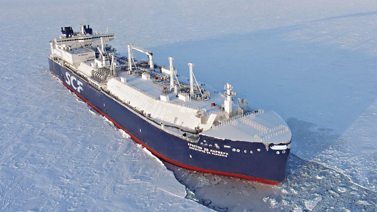 ARC7-class LNG carriers make it possible to transit the ice-infested waters of the Northern Sea Route (source: Total)