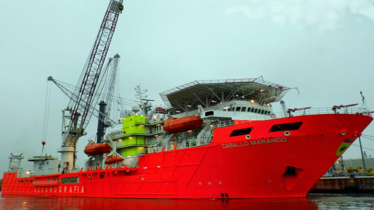 Caballo Marango is one of two CSVs being auction off by the US Marshall in December (source: Pareto Shipbrokers)
