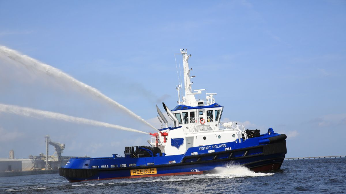 Towing vessel Signet Polaris has an ABS Fi-Fi 1 classification (source: Fire Fighting Systems)