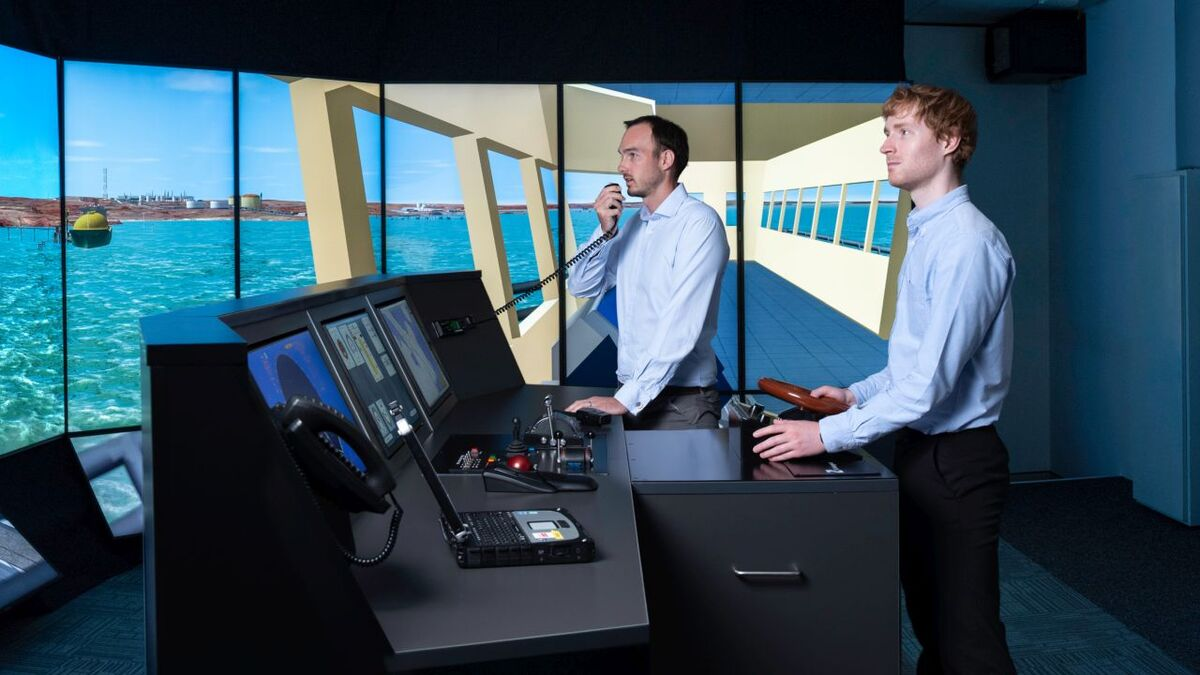 Bridge simulator - will executives be involved in cyber security drills? (source: HR Wallingford)
