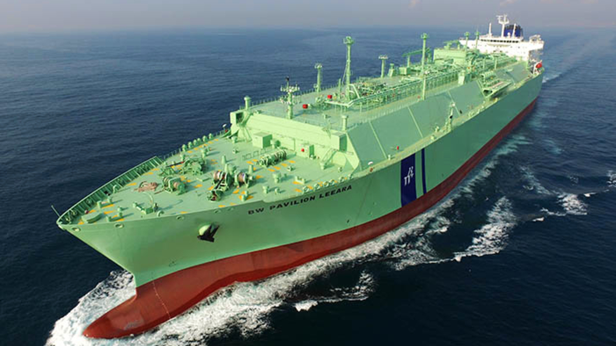 TMC marine compressed air systems have been selected for all nine BW LNG gas ships built by DSME (source: BW LNG)