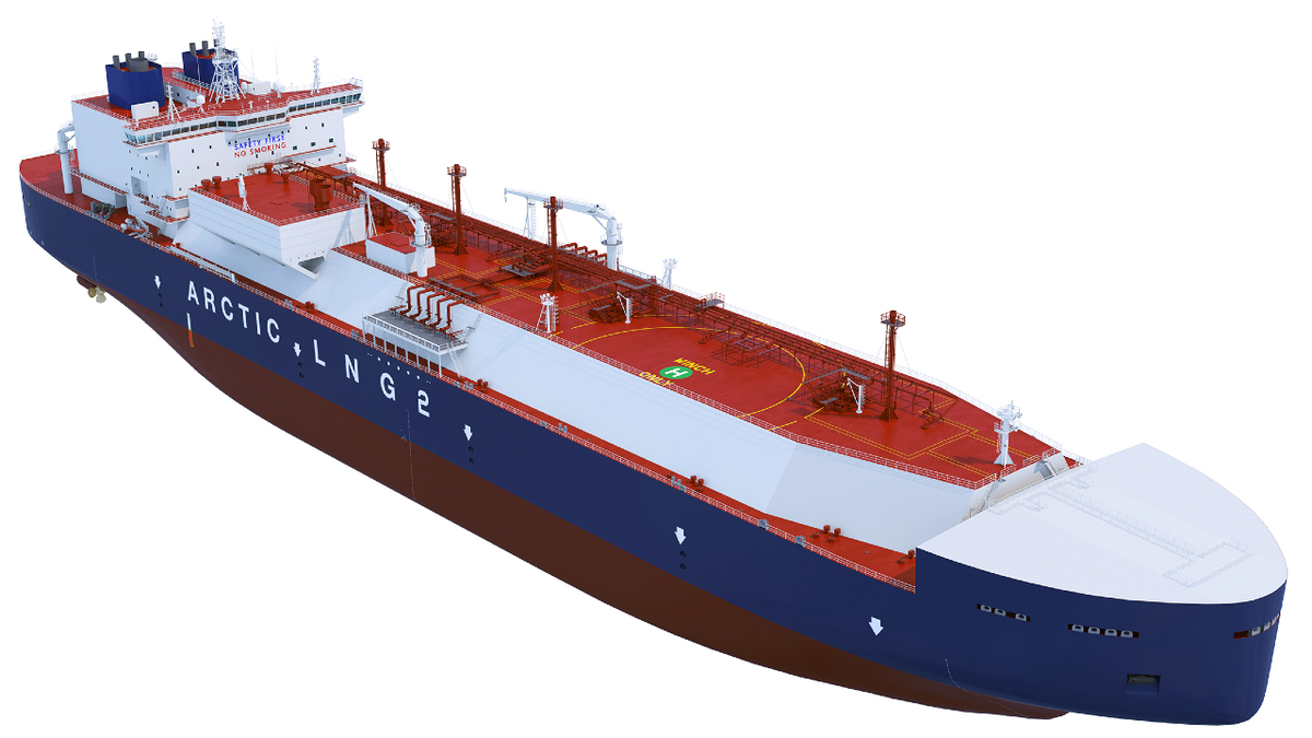 ARC7 class Yamalmax LNG carriers will be capable of speeds of 19.5 knots in open water (source: Zvezda)