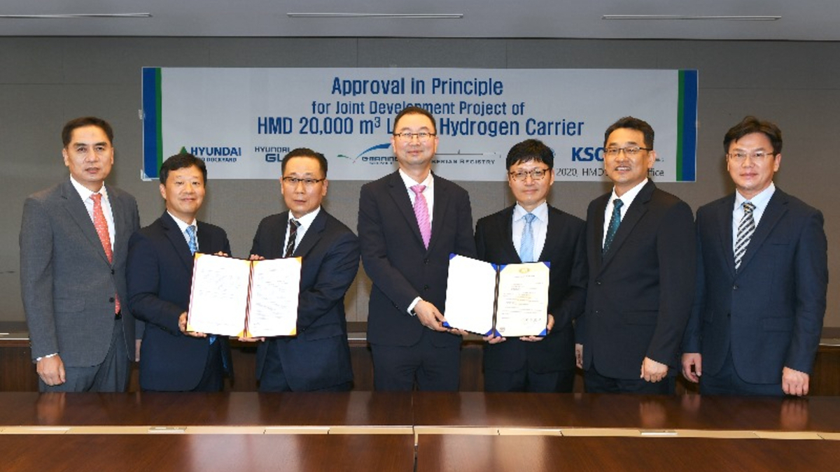 Korean Register's AiP advances what would be the largest liquid hydrogen carrier yet considered (source: Korean Register)