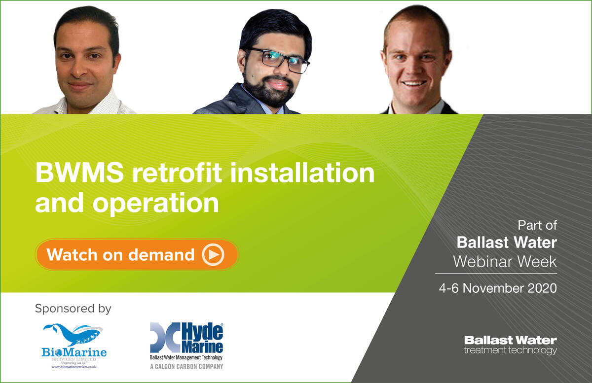 BWMS retrofit installation webinar Friday 6 Nov 2020