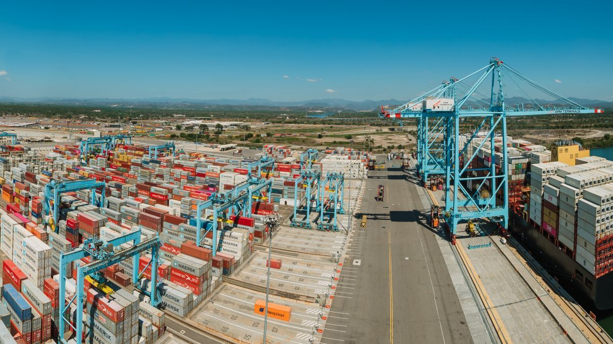 Containers can be tracked as they are stacked at APM terminal Lazaro Cardenas, Mexico