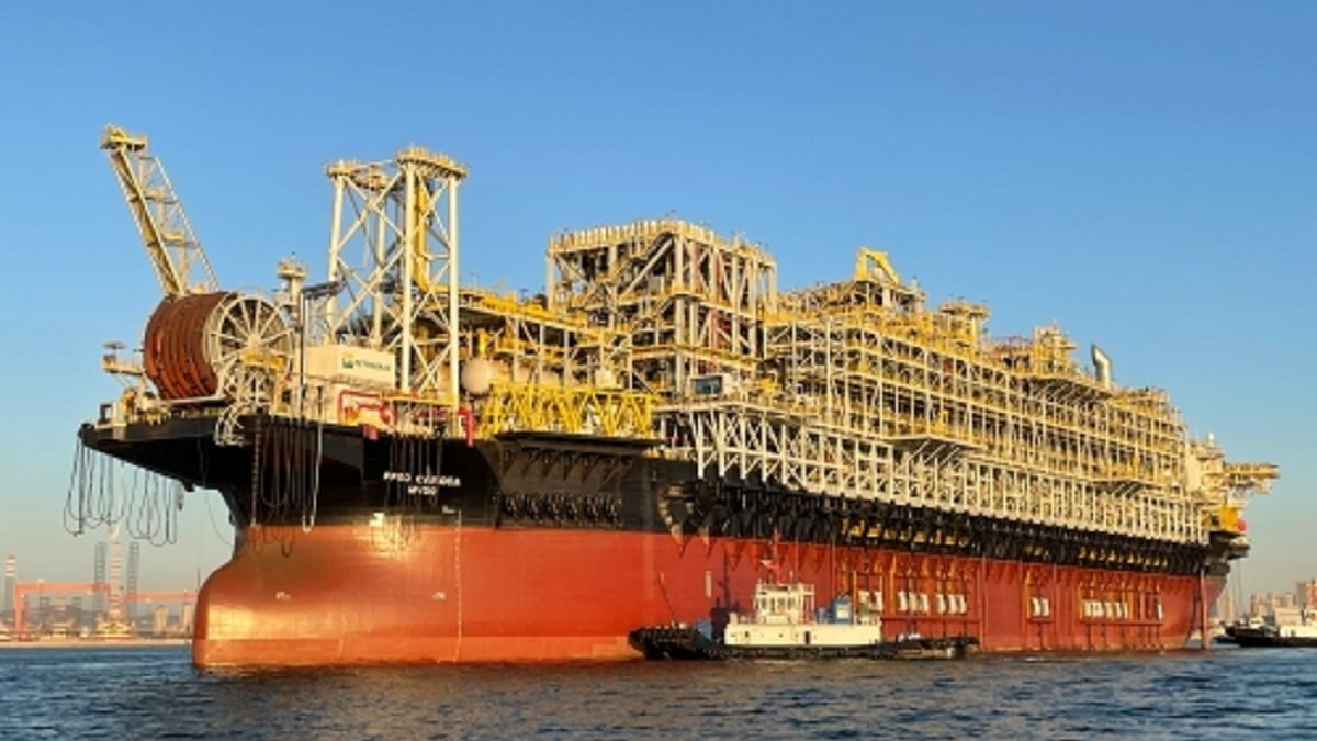 FPSO Carioca MV30 is 332 m long, 58 m wide, with a draught of 31 m (Image: COSCO Dalian)