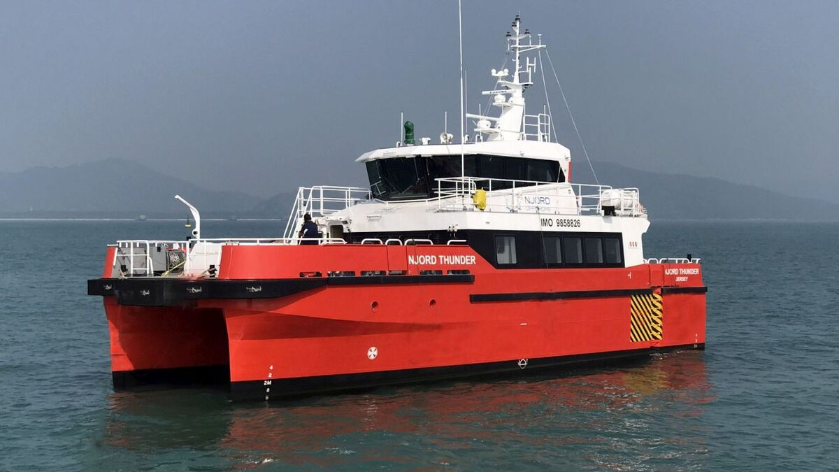 PSA Marine subsidiary Ventus Marine operates CTVs in partnership with Njord Offshore