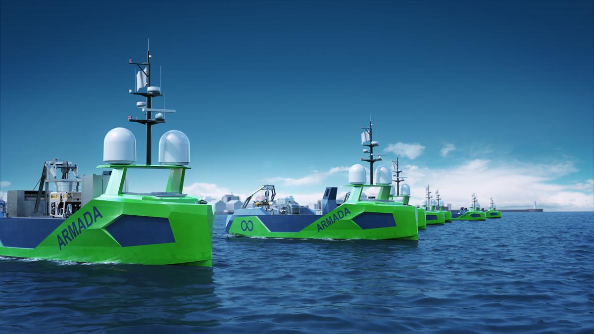 Ocean Infinity's Armada fleet of robotic vessels will survey oceans for oil seeps (source: OI)