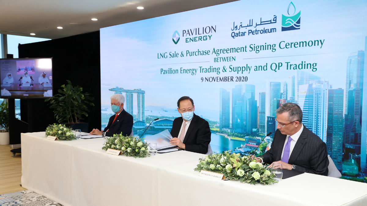 Pavilion Energy and QP signed a groundbreaking, 10-year SPA for carbon-neutral LNG (source: Pavilion Energy)