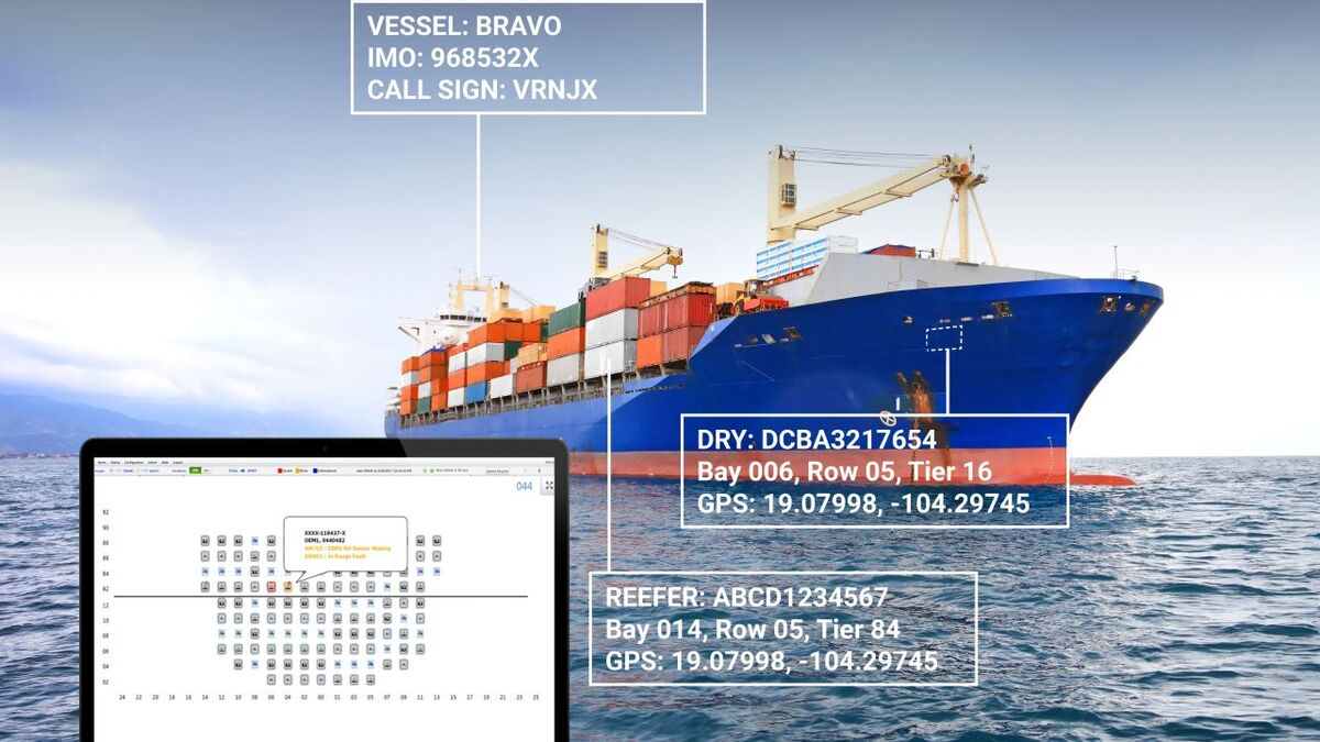 Reefer container and ship information in Orbcomm VesselConnect (source: Orbcomm)