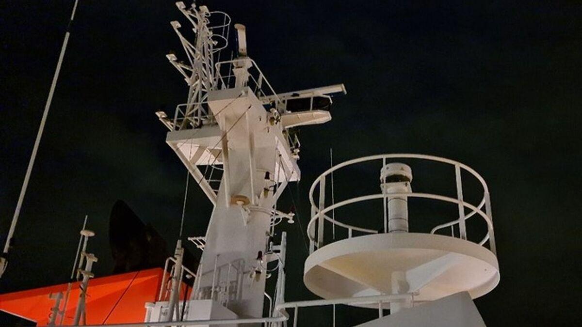 Spliethoff vessel Spaarnegracht with Certus terminal on board (source: Spliethoff)