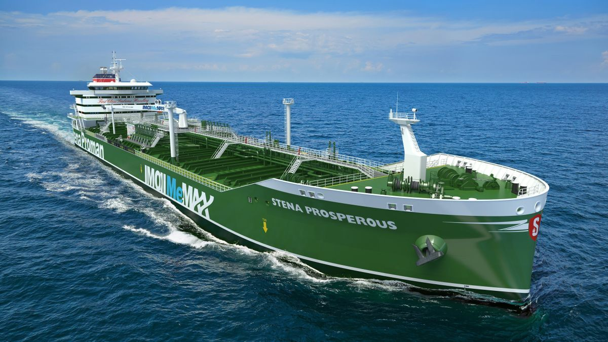 Stena Prosperous: methanol fuel removes the need for a catalytic converter (Image: Proman Stena Bulk)