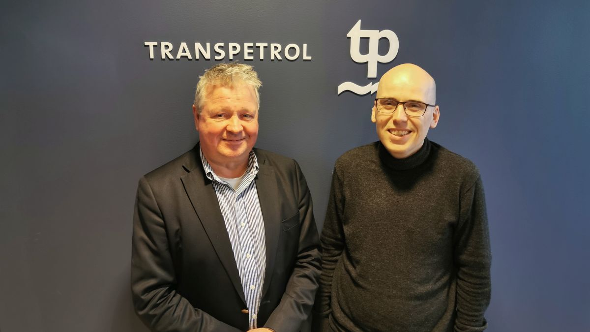 """Carl Groven (left) and Thor Erik Hagen (right) (Transpetrol): Transitioned from a manual to a fully documented electronic training system"""" (source: Transpetrol)"""