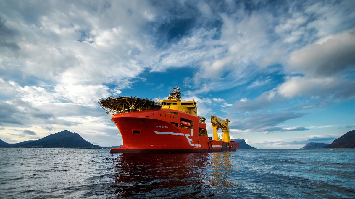 Chartered by DEME for the offshore wind sector, Viking Neptun was fitted with a battery pack (source: Eidesvik Offshore/Helge Brandal)