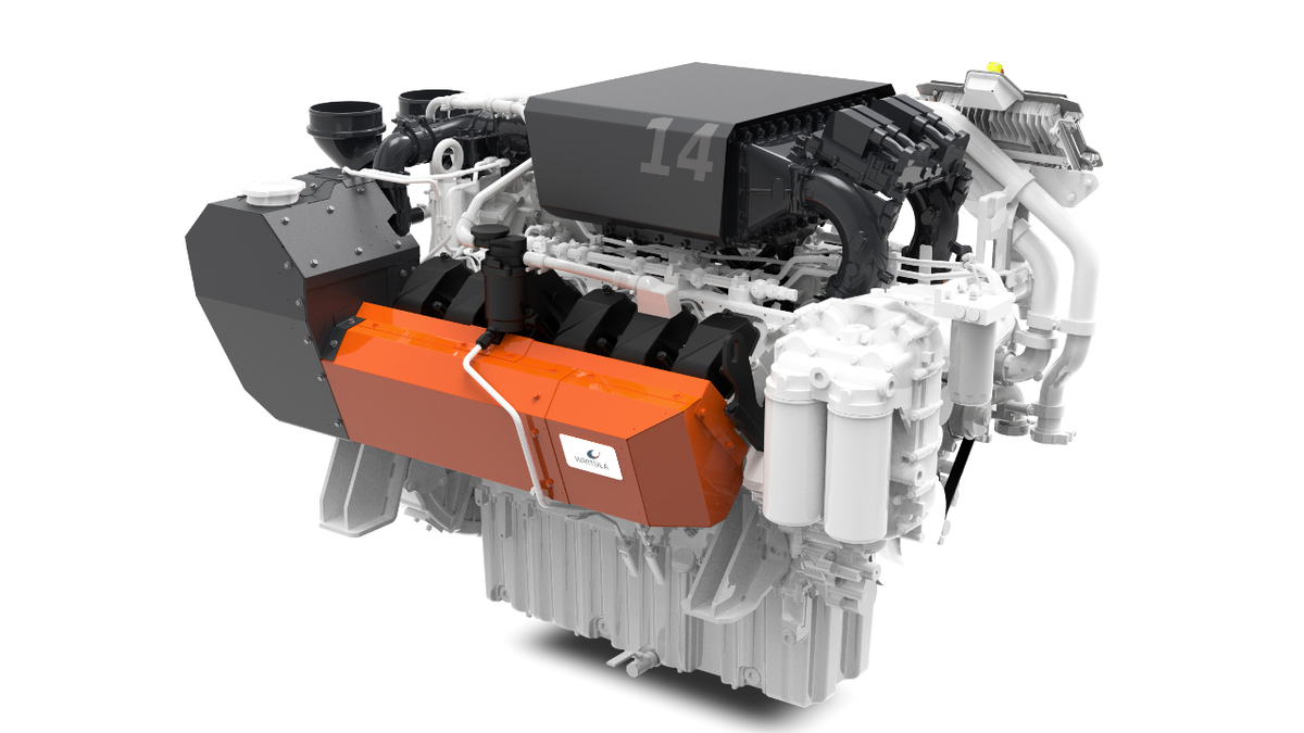 Wärtsilä 14 engines comply with the stringent EU Stage V emissions standard for inland waterway vessels (source: Wärtsilä )