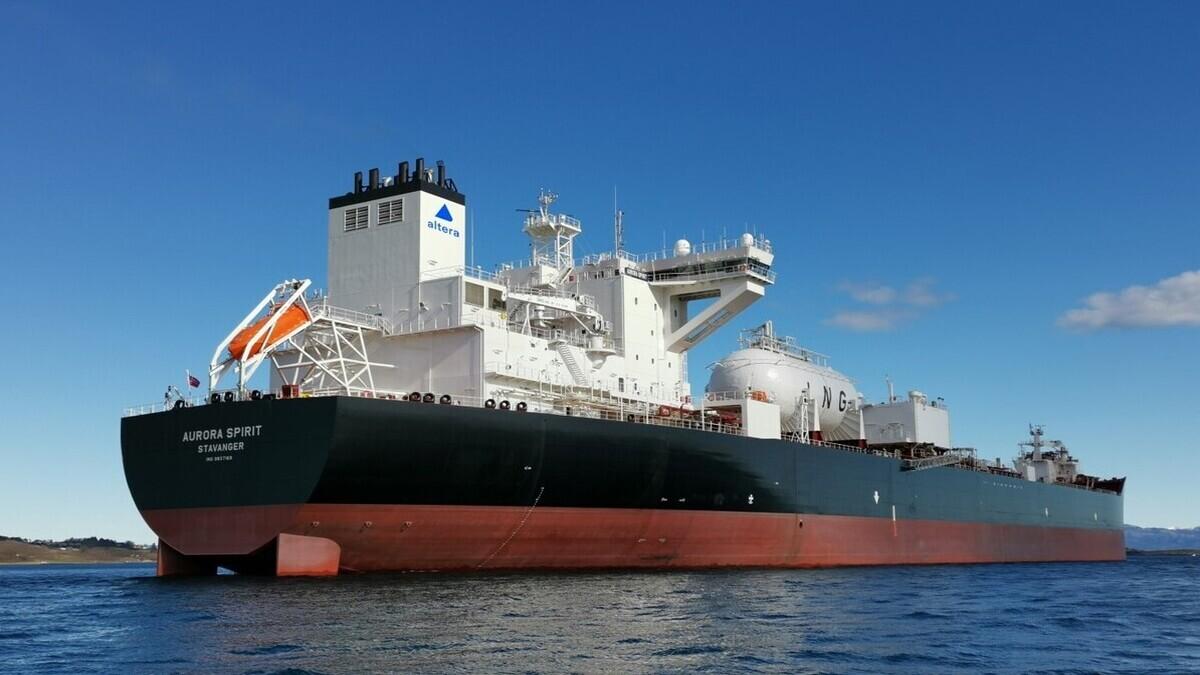 Equinor's LNG-fuelled vessel Aurora Spirit (Image: Gasum)
