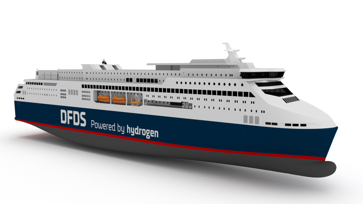 DFDS hopes to have Europa Seaways on the water by 2027 (Image: Knud E Hansen)