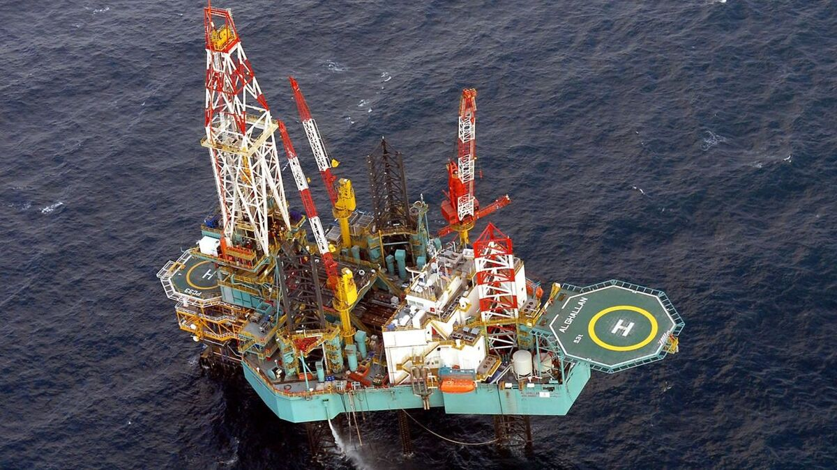 A jack-up rig drills wells on new projects offshore UAE (source: Adnoc)