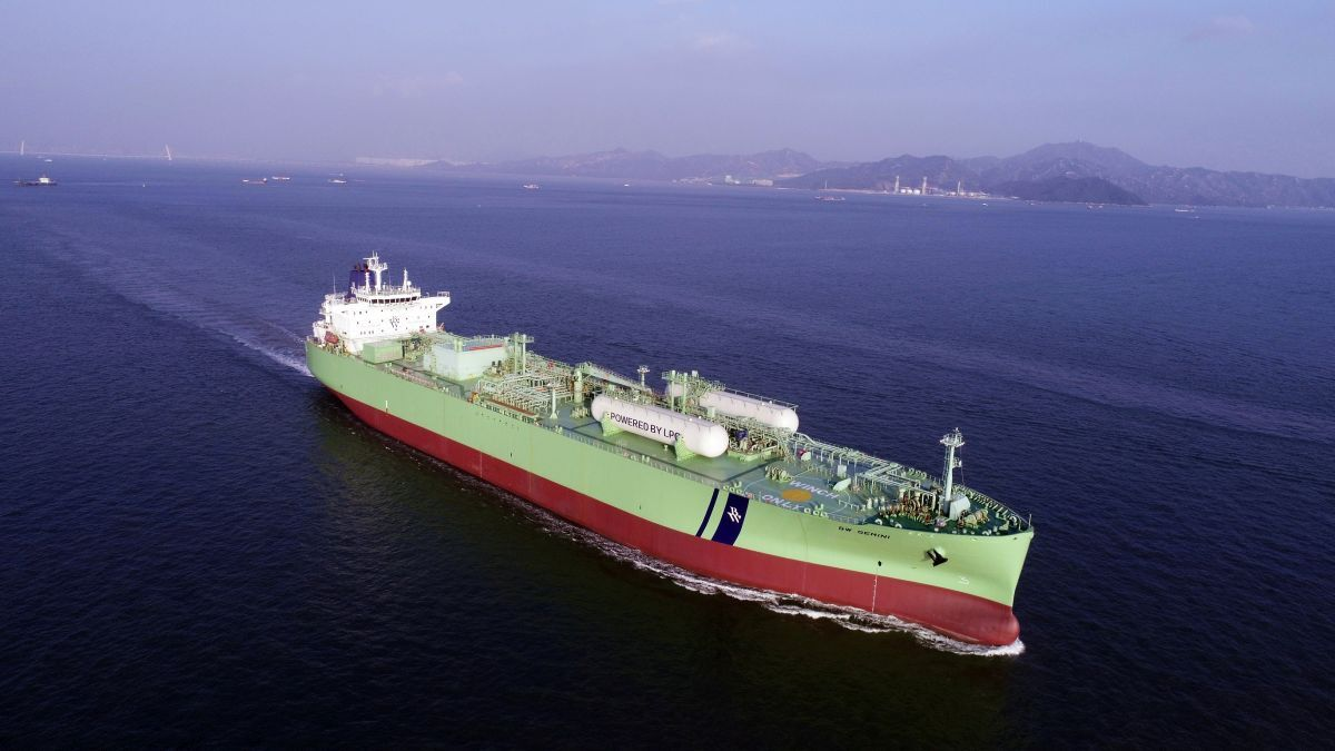 BW Gemini is the first of 12 VLGCs that will be retrofitted for LPG dual-fuel propulsion (source: BW LPG)