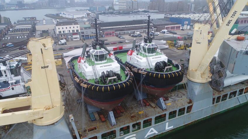 Boluda receives two new harbour tugs for major Belgium port