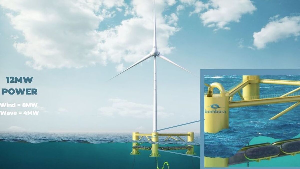mWave uses membrane-style energy converters mounted to a structure to capture wave energy