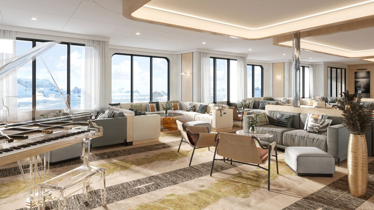 The observation lounge has been designed to be the multi-purpose social hub of the ship (source: Swan Hellenic)