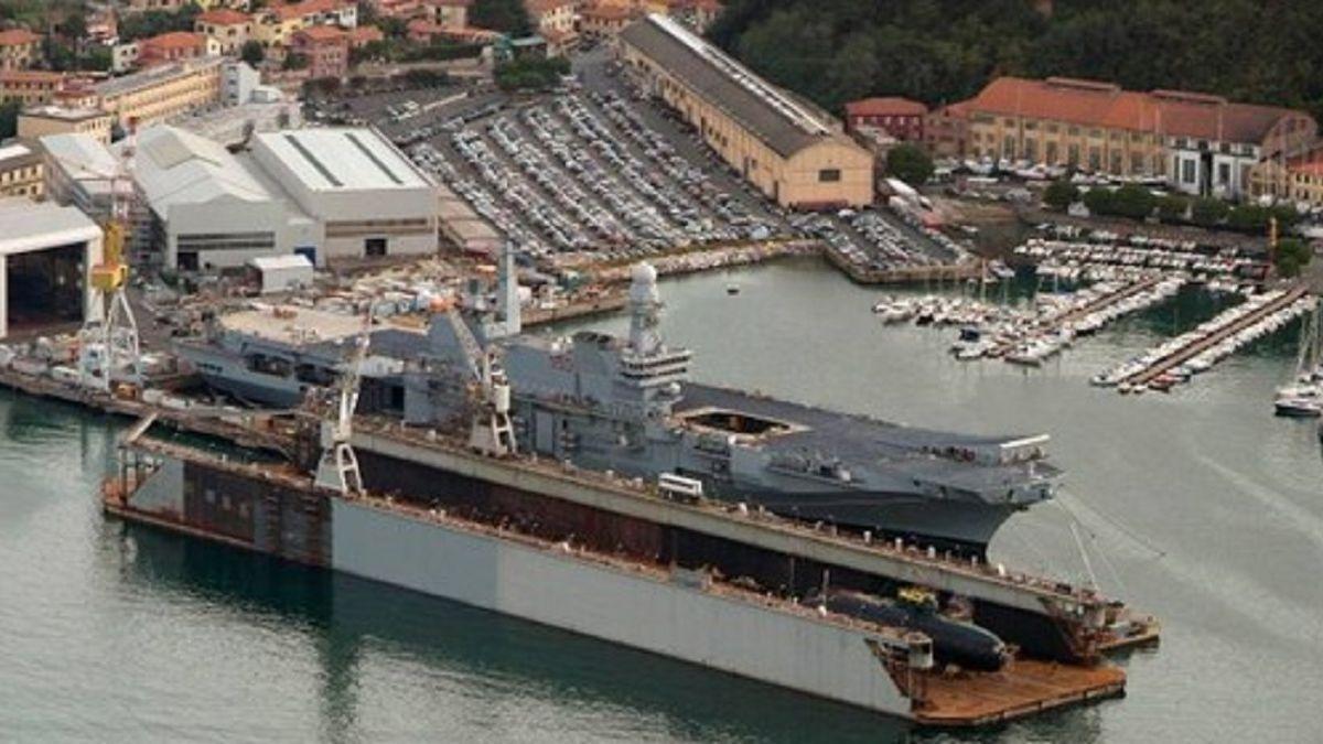 Drydock Fincantieri La Spezia: 40,000 tonnes and with 32 ballast/double bottoms (Image: Scanjet)