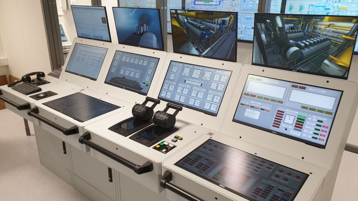 Kongsberg K-Sim Engine simulator enables engineers to practice control systems (source: Kongsberg)