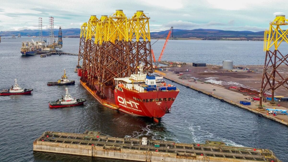 Hawk completed delivery of its second load of jackets to Port of Nigg in the Cromarty Firth on 12 November 2020
