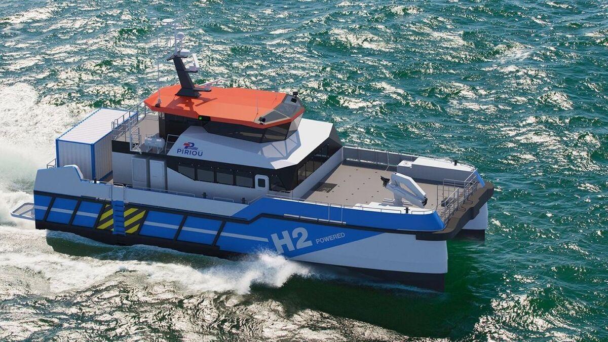 Piriou unveils CTV with hydrogen hybrid propulsion