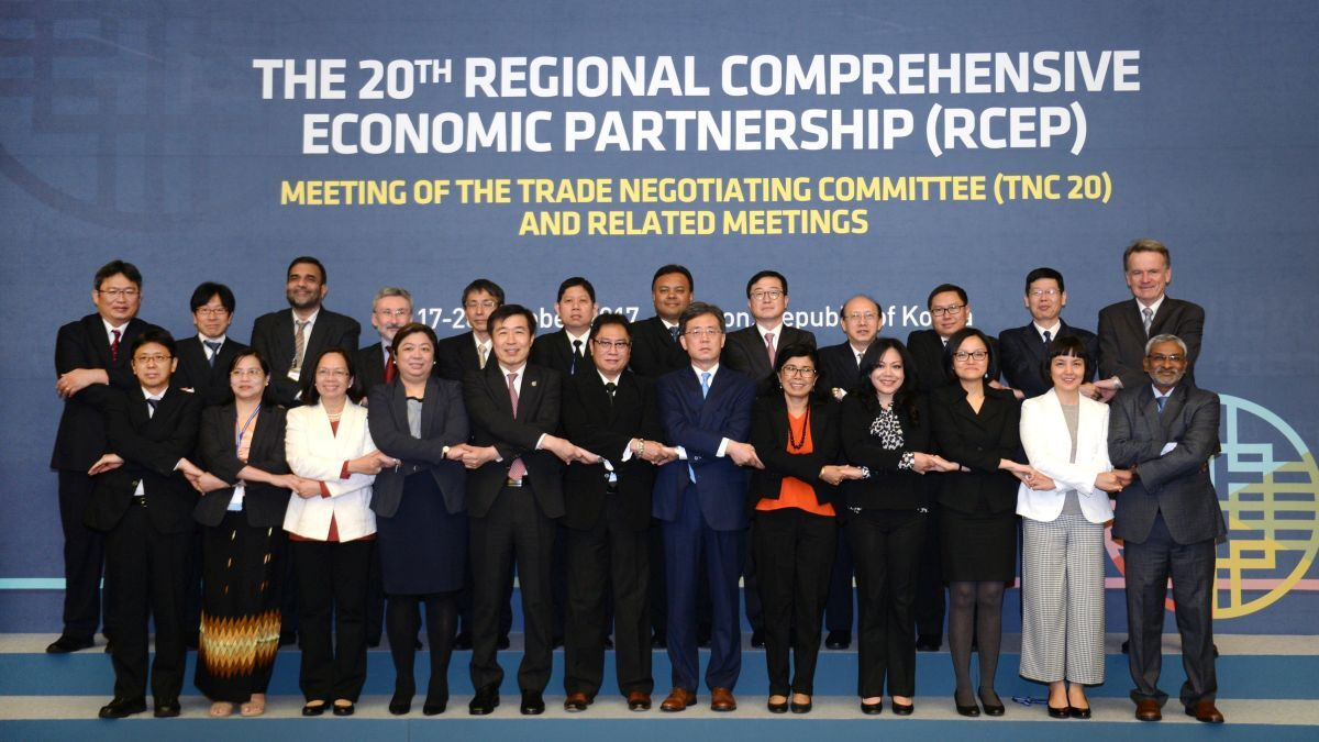 20th meeting of RCEP in 2017 – the agreement was signed virtually 15 November 2020 (Source: RCEP)