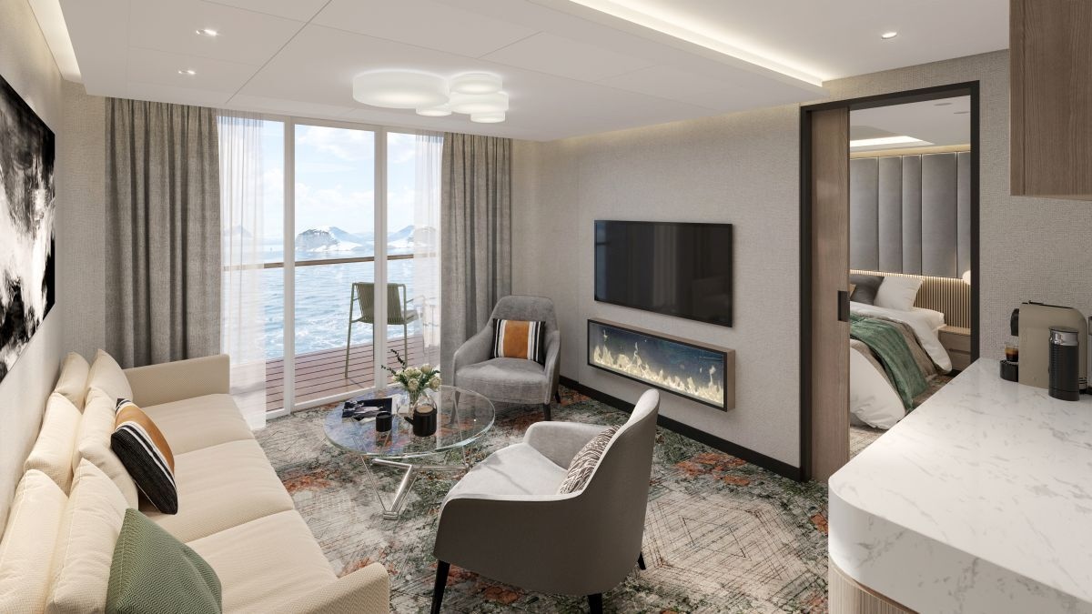 Every suite and cabin has a fireplace that uses hologram technology (source: Swan Hellenic)
