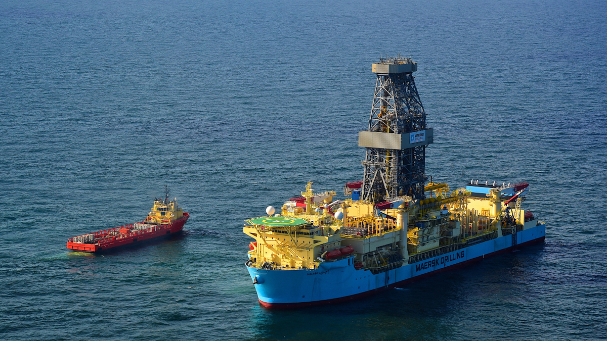 Coming out of warm stack, Maersk Valiant will be drilling offshore Suriname in 2021 (source: Maersk Drilling)