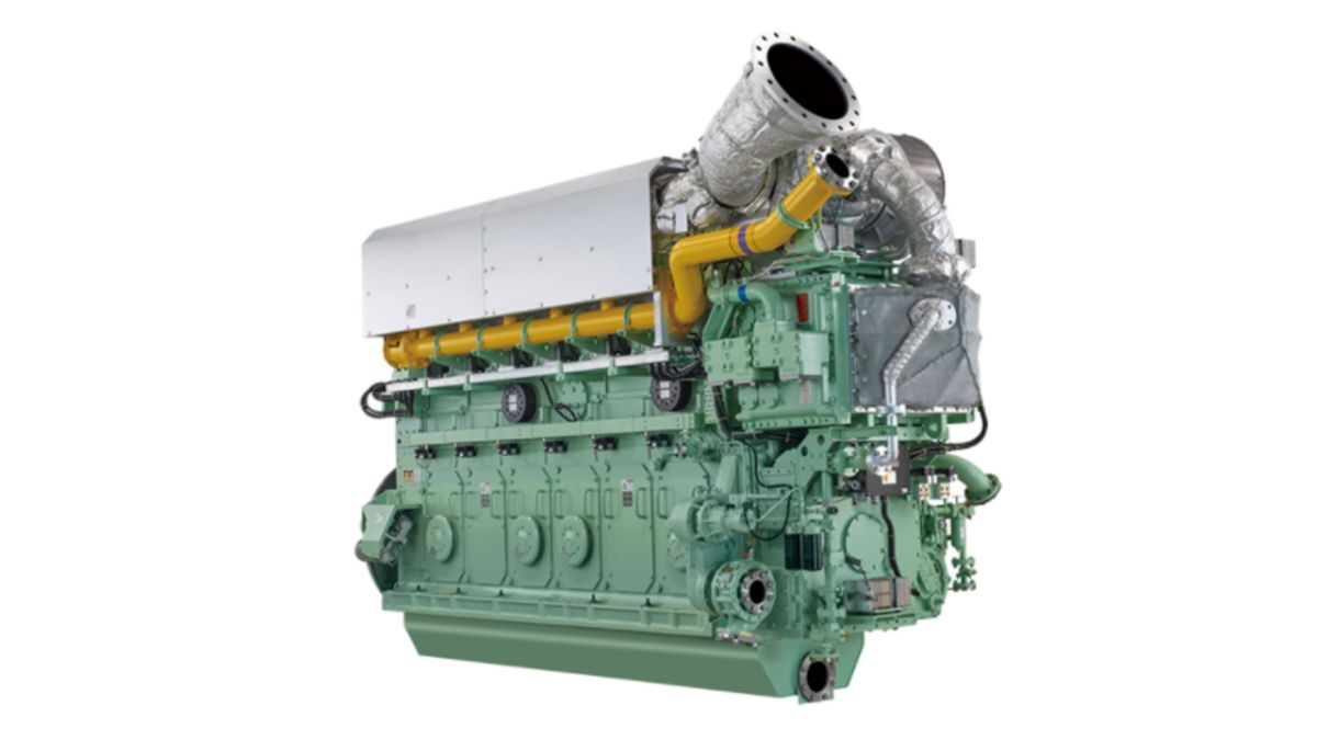 6L28AHX-DF dual-fuel engines were first installed in the LNG-powered ASD harbour tug Sakigake (source: IHI)