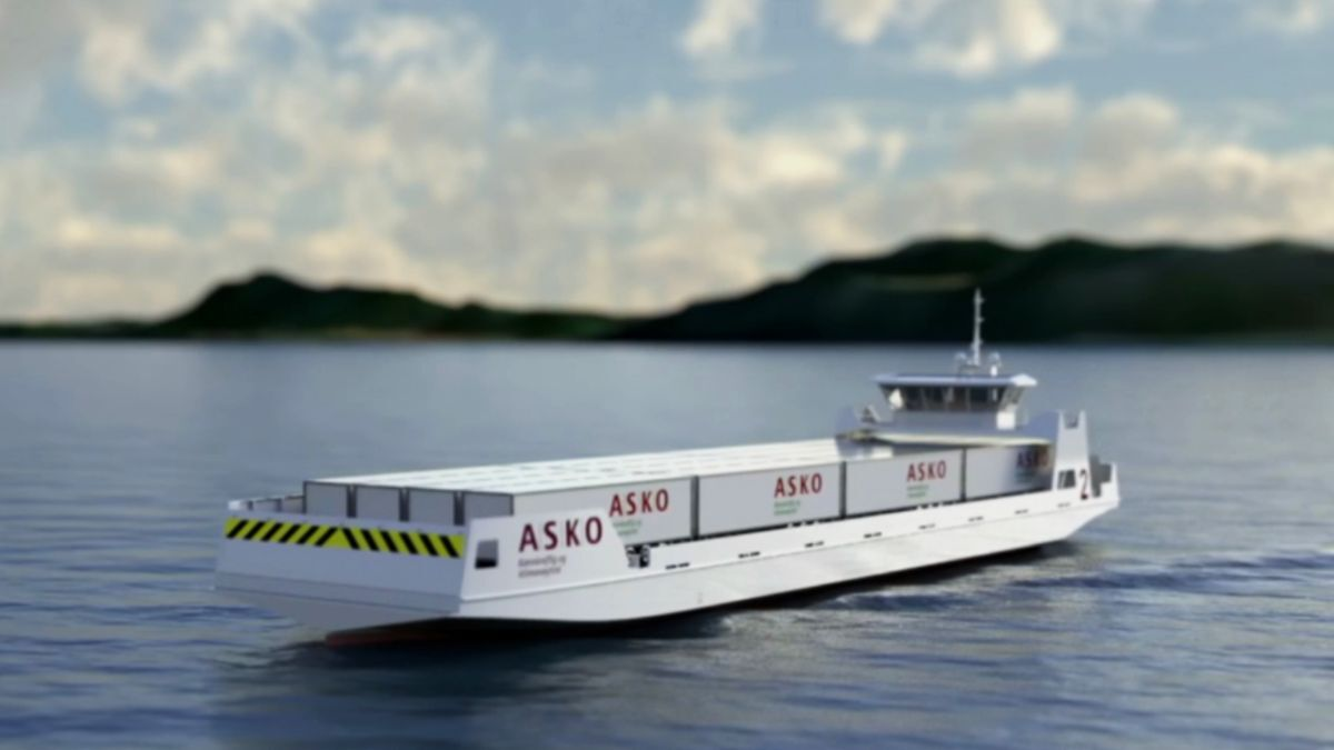 Using two zero-emission roros will cut 5,000 tonnes of CO2 emissions annually (source: Enova/Naval Dynamics)
