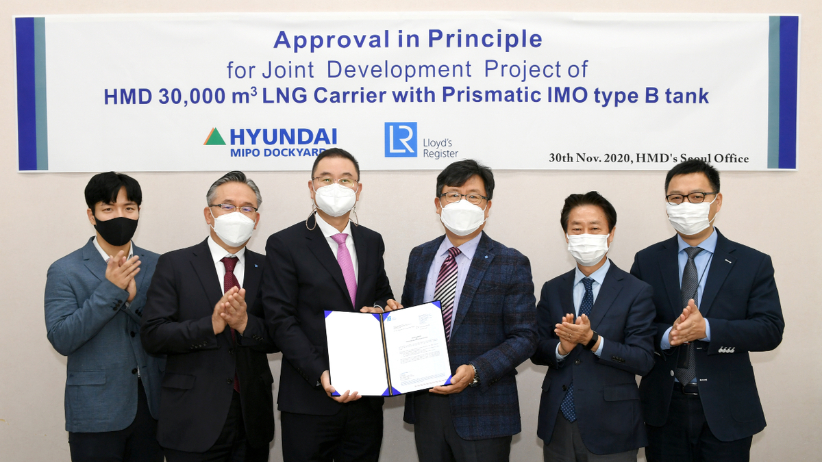 An IMO type B cargo tank can offer high space utilisation in a 30,000-m3 LNG carrier (source: LR)