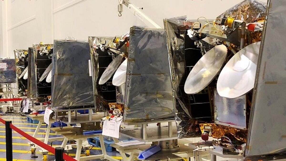 Airbus manufactured the first OneWeb LEO satellites (source: Airbus)