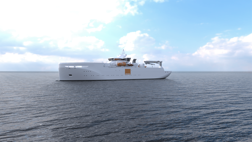 Orange Marine's diesel-hybrid cable-layer will cut fuel consumption by 25% (source: Vard)
