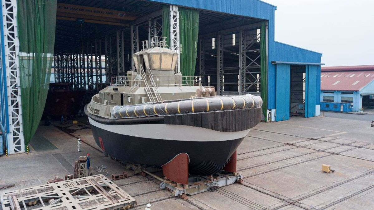 Damen launches electric tug of RSD-E 2513 design (source: Damen)