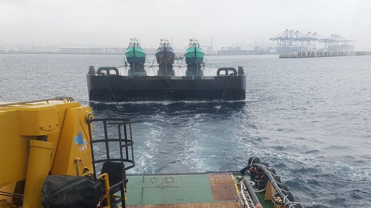 Dominion vessels with St Georges on barge Jacob Joseph C towed by tug Amy Lynn D (source: ACL)
