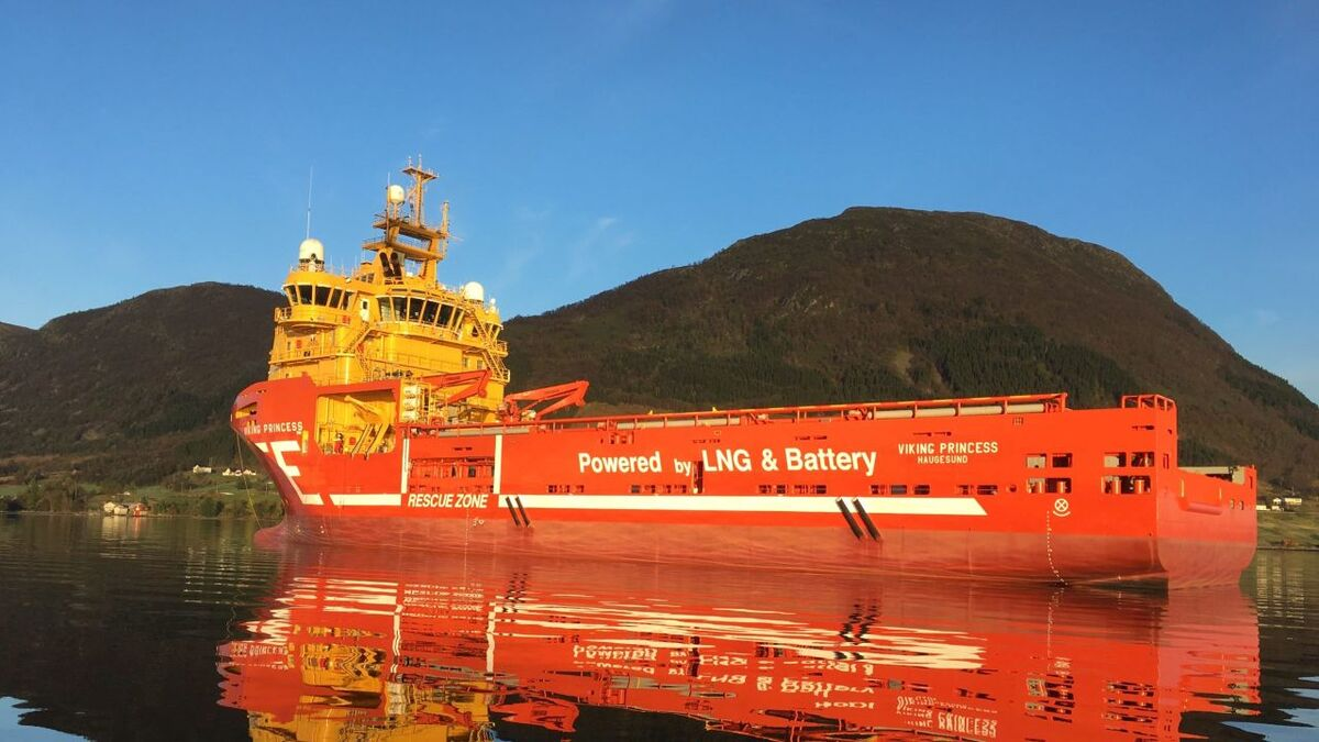 Equinor charters battery-powered PSVs such as Eidesvik's Viking Princess (source: Eidesvik)